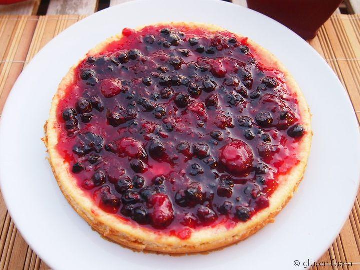 Pastel de queso con frutos rojos para celiacos terminado!